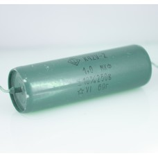 250V / 1.0uF (1000nF=1000000pF) K42Y-2 capacitors 1969 year production FOTON.