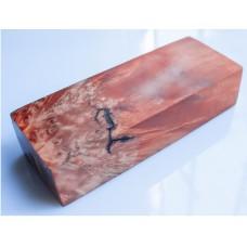FOX's TAIL orange color STABILIZED wood, Karelian birch.