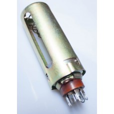 7-pin SOCKET PL775, with 75mm brass shield. B7G type.
