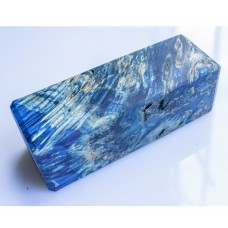AQUAMARINE color STABILIZED wood, Karelian BIRCH