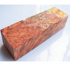 WILDFIRE orange color STABILIZED wood, Karelian BIRCH
